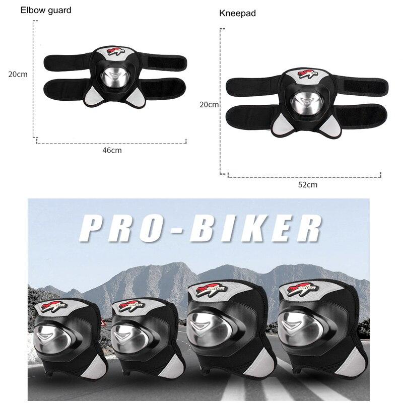LMoDri 2Pcs Motorcycle Knee Pads Guards Sport Motocross Protection Roller Skating Elbow Knee Protector enlarge