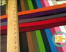 24 cores falso cabo de couro/renda/tira/corda camurça cabo pu 5/8/10/12/15/20mm diy colar pulseira jóias frete grátis 10m