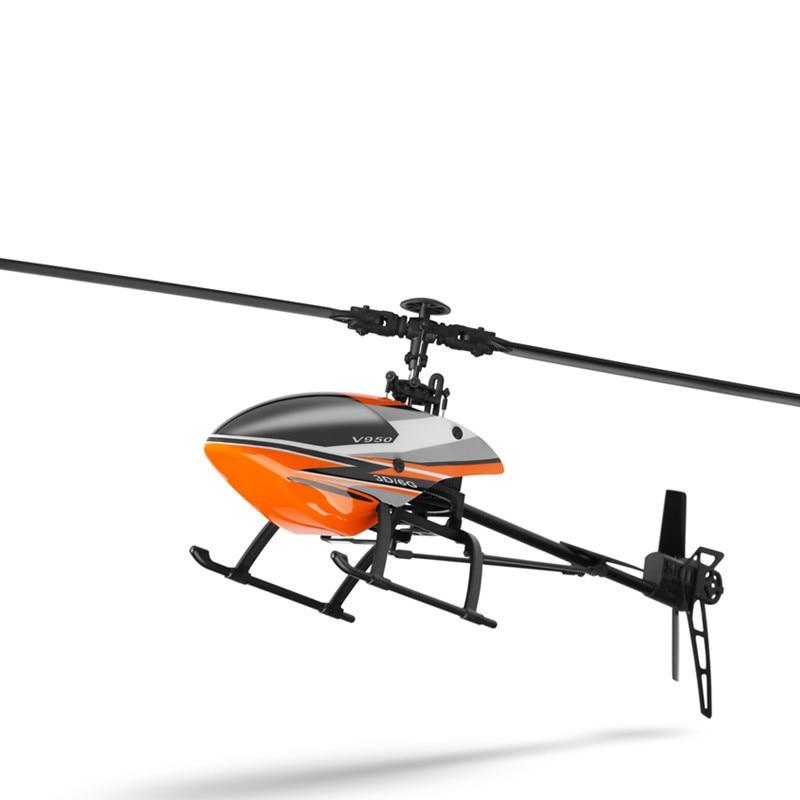 Helicóptero grande V950 WLtoys con motor sin escobillas 2,4G 6CH 3D6G sistema sin escobillas Flybarless RC helicóptero RTF