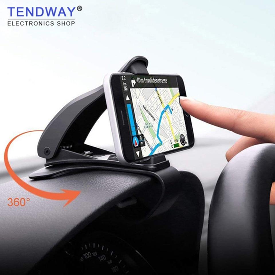 Soporte para teléfono Tendway para salpicadero de coche, soporte para teléfono móvil de 360 grados, soporte Universal ajustable para teléfono móvil