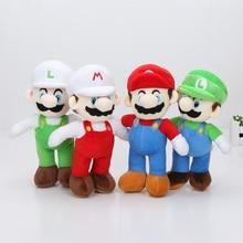 10 stks/partij Platform Video Game Tekens Super Mario Bros Pluche Poppen 25 cm Mario Luigi Gevulde Pluche Pop Speelgoed
