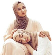 60*170 cm femmes musulmanes doux coton modal hijab écharpe islamique jersey foulard hijab femme musulman foulard arabe turban vêtements