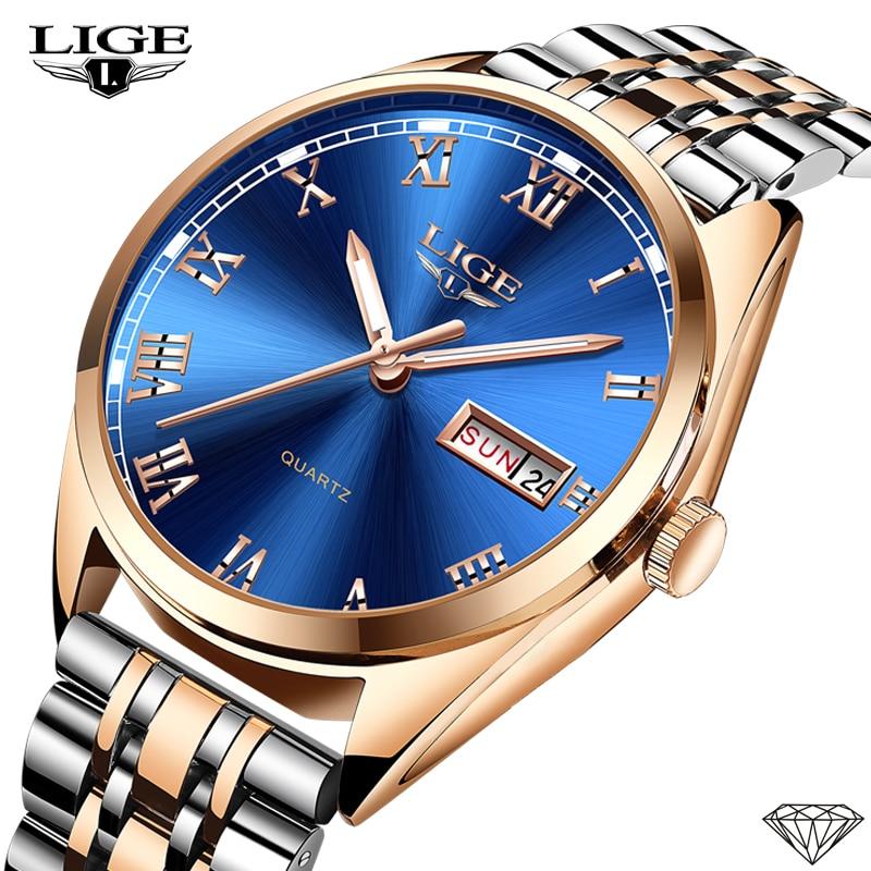 New LIGE Women Dress Watches Luxury Brand Ladies Quartz Watch Stainless Steel Band Casual Bracelet Wristwatch Reloj Mujer+Box enlarge