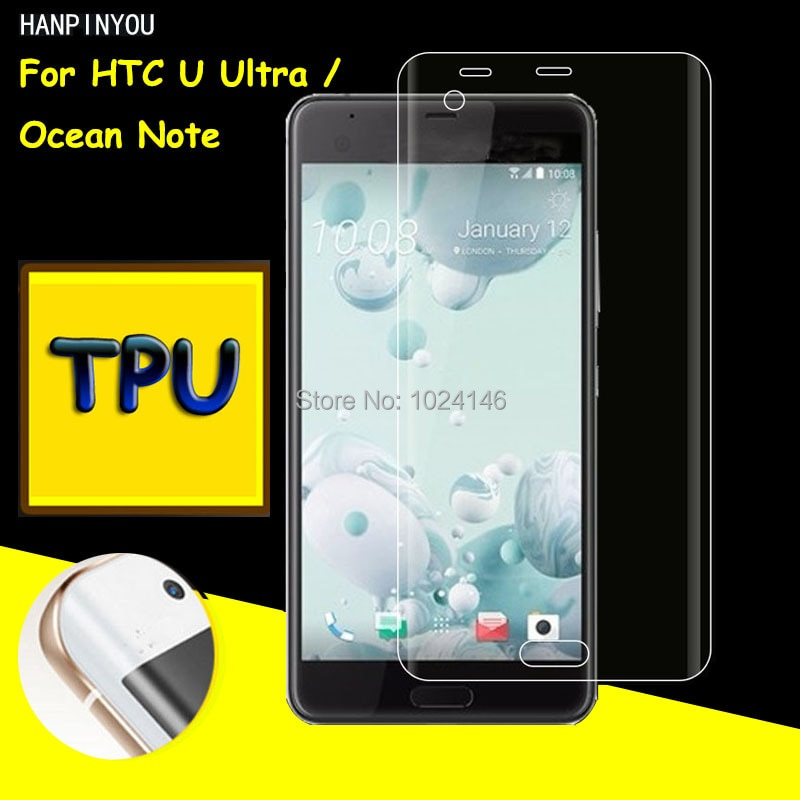 Full Coverage Clear Soft TPU Film Screen Protector For HTC U Ultra / Ocean Note 5.7