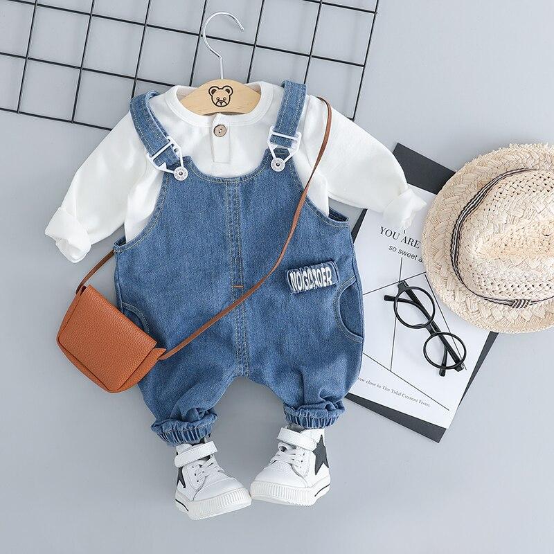 HYLKIDHUOSE, conjuntos de ropa para niñas y niños, ropa infantil para bebés, trajes de algodón de alta calidad, camiseta, babero, Jeans, disfraz para niños