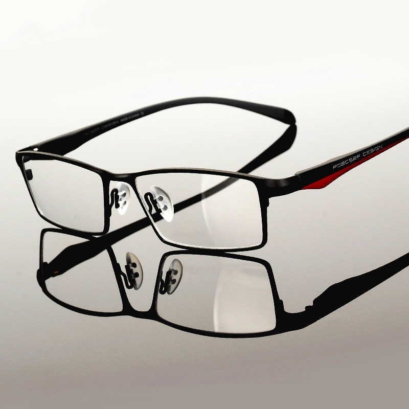 إطار كلاسيكي كامل من التيتانيوم الخالص للرجال ، إطار بصري لقصر النظر ، للكمبيوتر ، خفيف للغاية ، 9110