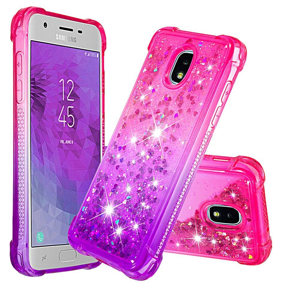 Funda de teléfono para Samsung Galaxy J3 2018 SM-J337P J3 Star SM-J337A Amp Prime 3 2018 gradiente de silicona suave TPU Fundas de teléfonos líquidos