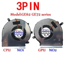 PAAD06015SL Ventilateur Pour MSI GE62 GE72 PE60 PE70 GL62 N303 N302 GE60 A166 MS-16GF MS-16GD GE70 1756 GE62VR GE72VR GP62MVR GL62M N366