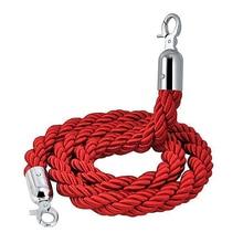 Cuerda de barrera para colas trenzada larga de 1,5 m de calidad roja para postes
