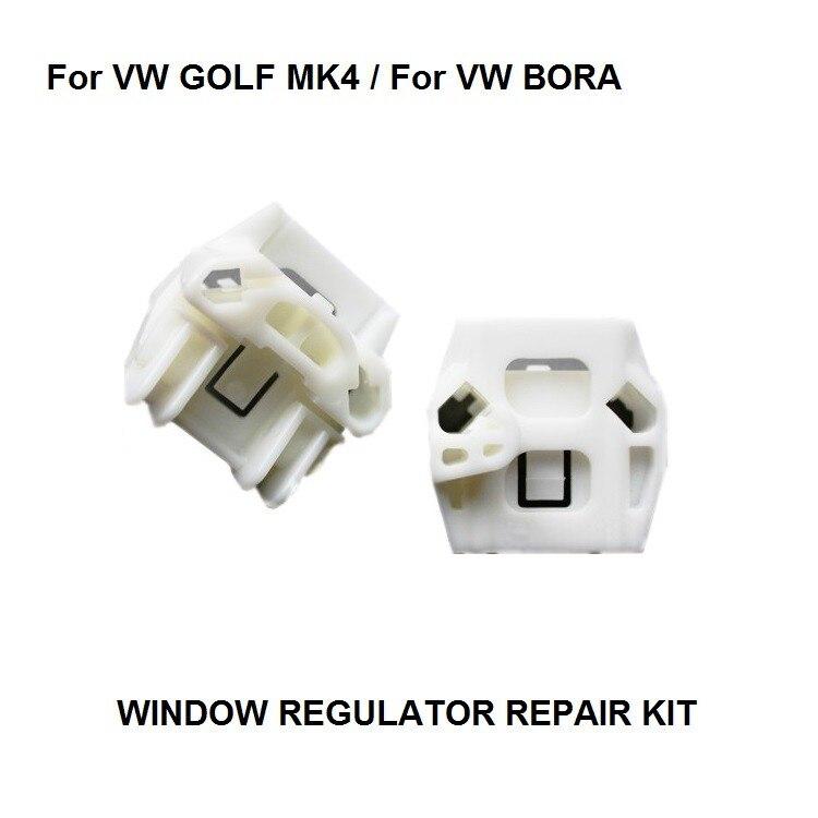 KIT completo de regulador de ventana para VW MK4 GOLF BORA KIT de reparación de regulador de ventanilla delantera-derecha CLIP regulador de ventana 1997-2006