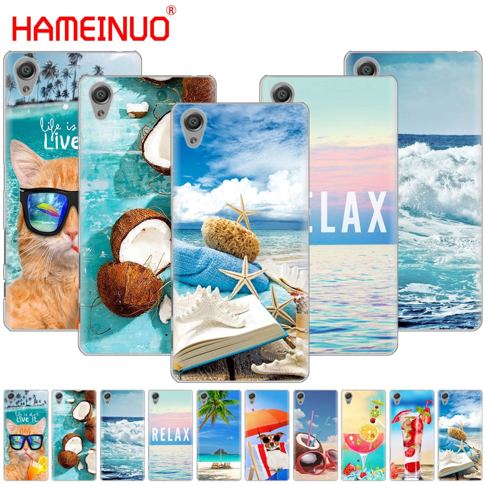 HAMEINUO summer beach wave sea Cover phone Case for sony xperia C6 XA1 XA2 XA ULTRA X XP L1 L2 X XZ1 compact XR/XZ PREMIUM