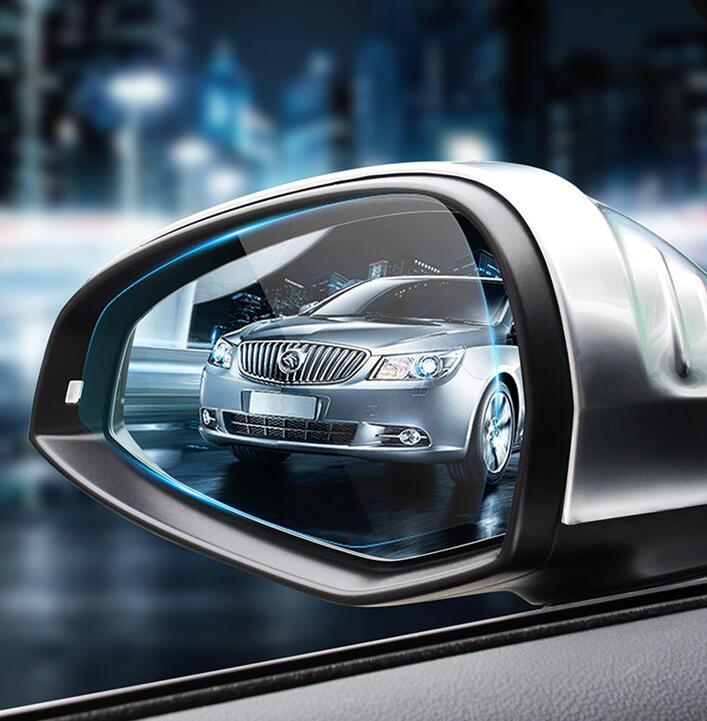 Espejo de revisión de membrana antiniebla de coche, pegatina impermeable a prueba de lluvia, película de visión clara para Hyundai Tucson IX25 IX35 Verna Solaris