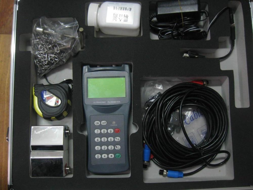 portable ultrasonic flowmeter water digital flow meter sensor counter indicator flow device caudalimetro DN15-100mm DN50-700mm