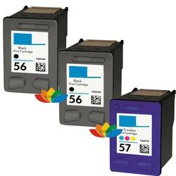 3 XL Substituição de cartuchos Recarregados de impressora HP 56 & 57 para OfficeJet PSC 1110 1205 1210 1350 2179 5505 5510 5510V 5510XI