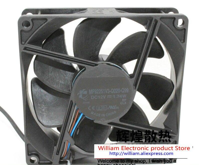Nuevo MF92251V3-Q020-Q99 Original DC12V 1,74 W 92*92*25MM 4 líneas para BenQ Optoma proyector ventilador de refrigeración FONSONING
