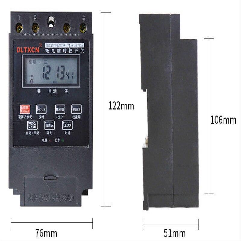 Relé de tiempo KG316T control microordenador 30A relé temporizador 220v relé 12v relé rele 24v DC12V DC24V envío gratis