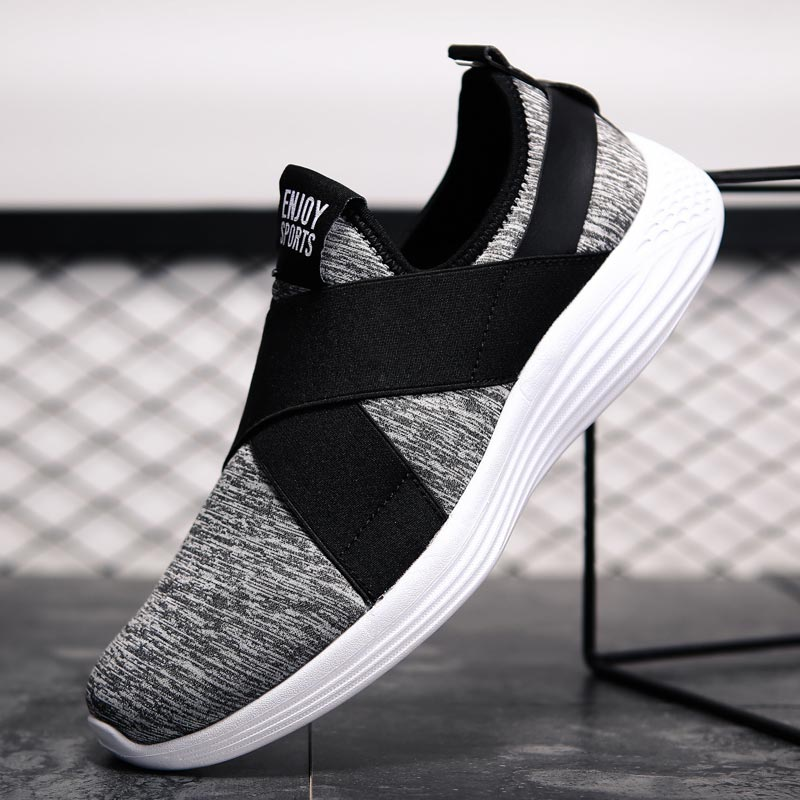 Zapatillas de deporte de talla grande para correr para hombre, zapatillas de verano transpirables, zapatillas deportivas para hombre, mallas ligeras, B-298 para caminar grises