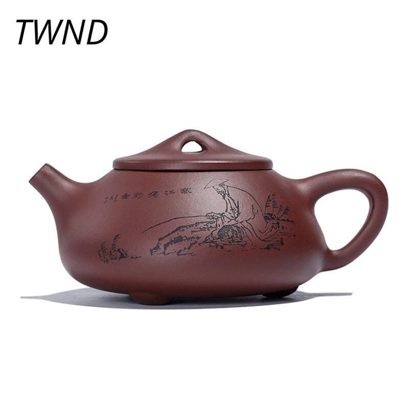 إبريق شاي من الطين الأرجواني yixing ، 270CC ، الصيني ، الكونغ فو ، شي ، بيو ، مع صندوق هدايا ، غلاية ore zisha ، ربطة عنق Guanyin Oolong Dahongpao 25