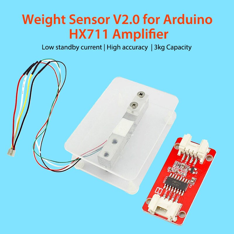 Elecrow nuevo Sensor de peso actualizado V2.0 célula de carga DIY balanza electrónica peso para Arduino HX711 amplificador baja corriente de espera