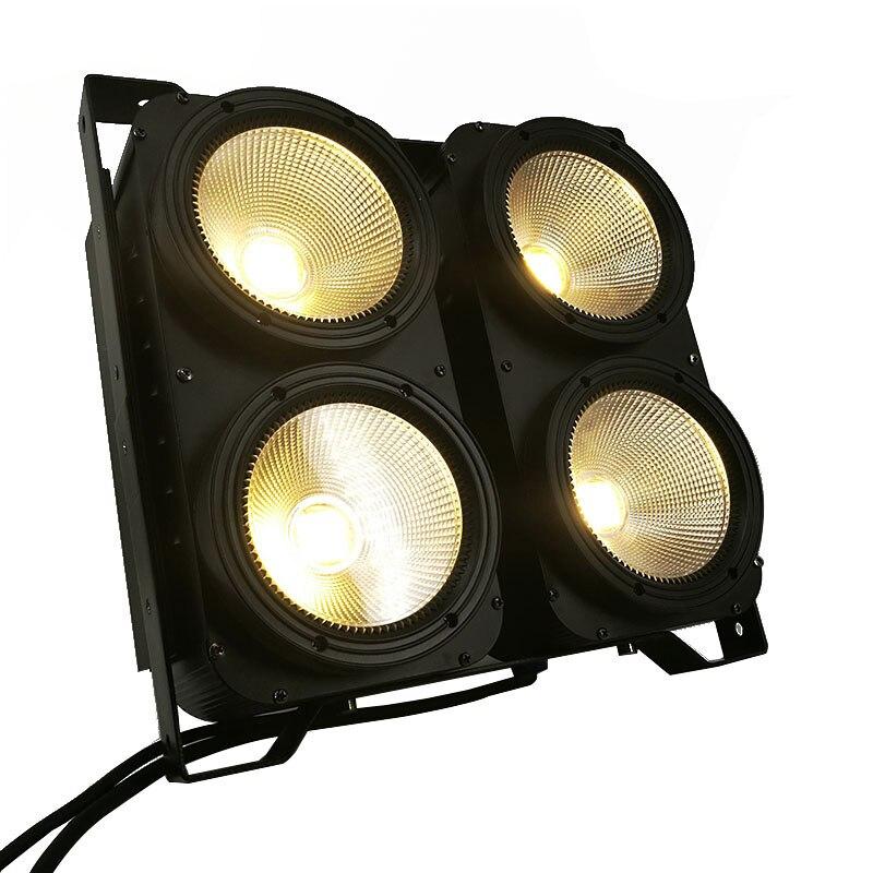 Combinaison 4x100W 4 yeux LED Blinder lumière COB blanc chaud LED haute puissance éclairage de scène professionnel pour piste de danse de fête