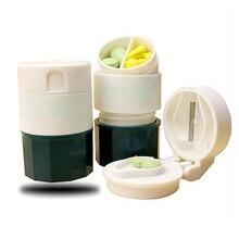 Boîte de rangement broyeur à pilules   Nouveau broyeur à pilules à 4 couches séparateur séparateur boîte de rangement soins