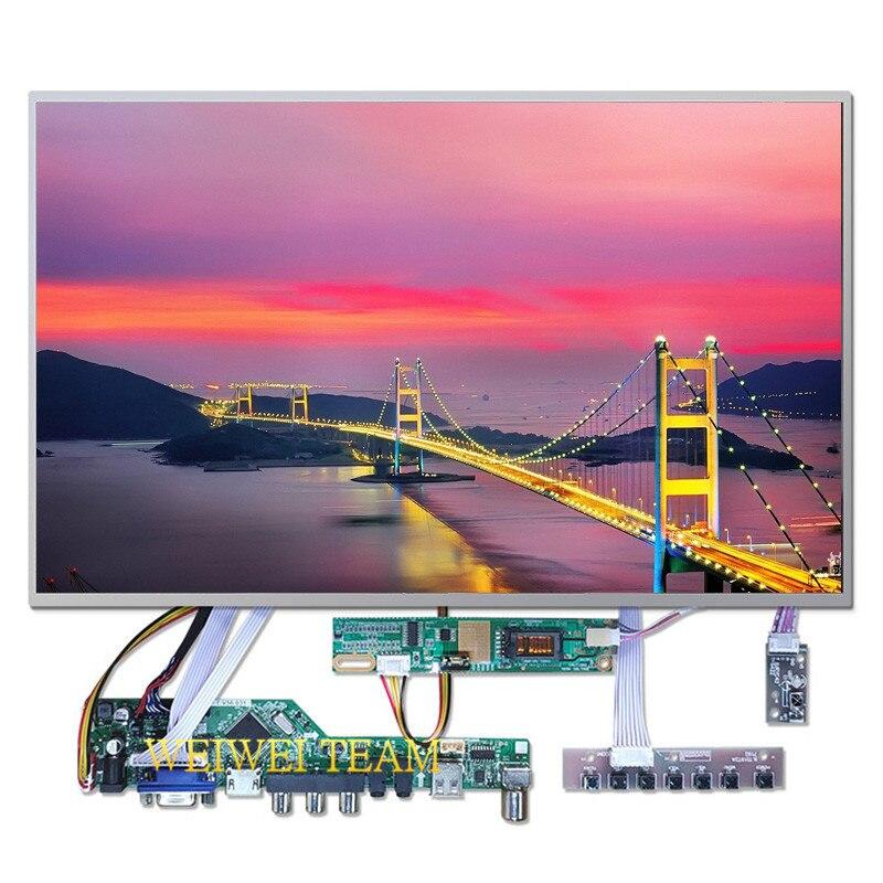 1280x800 Slim portátil de 15,4 pulgadas pantalla B154EW02 V2 LCD Panel V53 Universal TV HDMI USB VGA AV AUDIO LCD Control Board