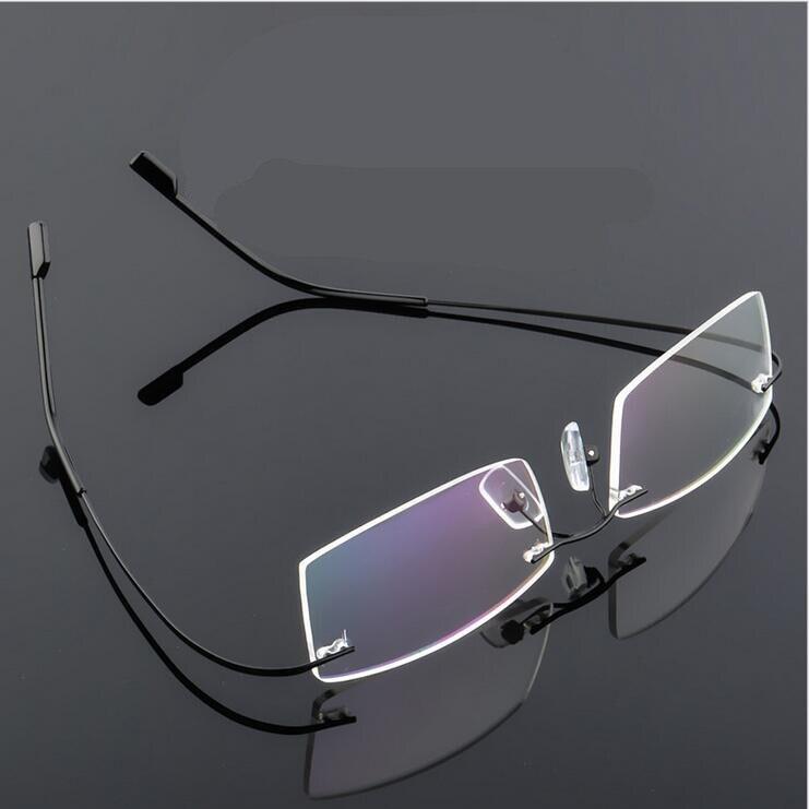 Montura de gafas sin montura, gafas ultraligeras, gafas ópticas para ordenador para hombre y mujer, lentes transparentes