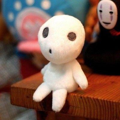 Ghibli Princess Mononoke KODAMA PLUSH TREE SPIRIT toy