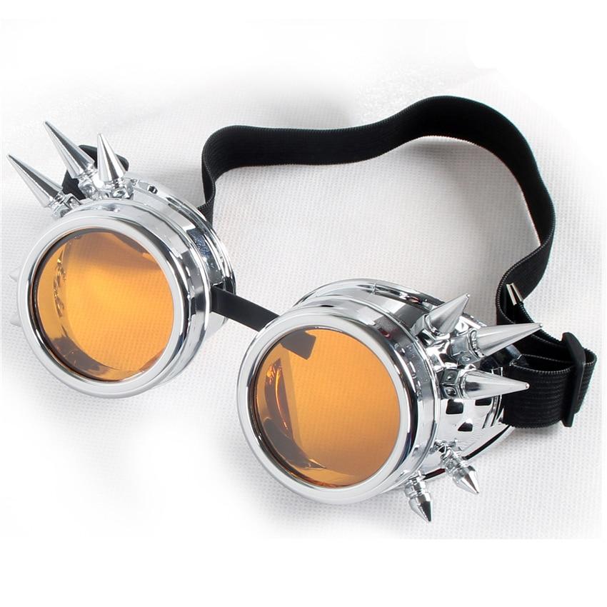 C. F. Gafas de sol clásicas Steampunk para hombre y mujer, gafas de sol caleidoscópicas con picos, gafas de sol góticas, gafas de sol estilo punk Retro Vintage