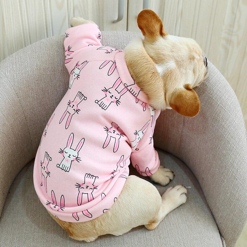 О-образный вырез Frech одежда для бульдога осень зима собака рубашка куртка для маленьких животных домашних животных Розовый Синий домашняя пижама Щенок Одежда Аксессуары