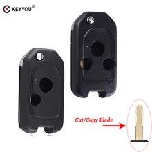 KEYYOU-coque de clé 2/3 boutons   Service de lame coupé pour Honda CIVIC Accord CRV Odyssey Pilot pliable et rabattable, boîtier de clé à distance
