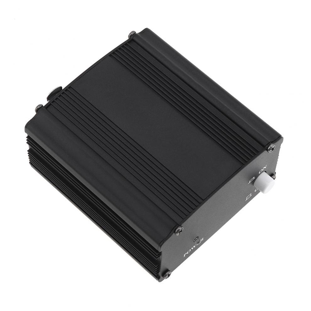 Fuente de alimentación fantasma de 1 canal USB de 48V con un Cable de Audio XLR para micrófono condensador equipo de grabación voz música en estudio