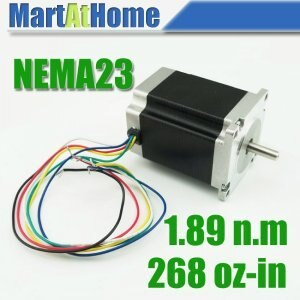 Free Shipping New CNC 76mm Hybrid Nema23 Stepper motor 3A 268oz-in 6 Leads #SM360 @CF