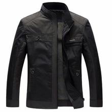 Hommes Vestes Printemps Automne Nouvelle de Loisirs Hommes Veste Mince Hommes Daffaires Manteau 4XL Zipper Noir mâle style Décontracté Stand col veste