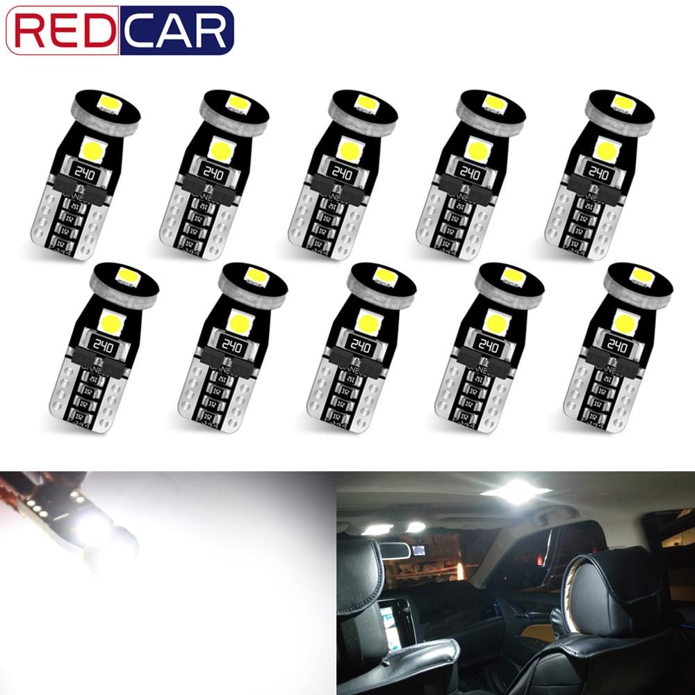 AliExpress - 10Pcs T10 Led Canbus W5W Led Bulbs 168 194 6000K White Signal Lamp Dome Reading License Plate Light Car Interior Lights Auto 12V