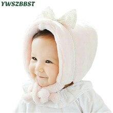 Automne hiver en peluche enfants chapeau avec nœud attache mignon filles chapeau chaud velours bébé chapeau enfants casquette filles bonnets casquette pour 0-2 âge