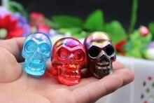 15pcs Natural quartz crystal carved metal color + blue + + purple roses red skull healing angels aura