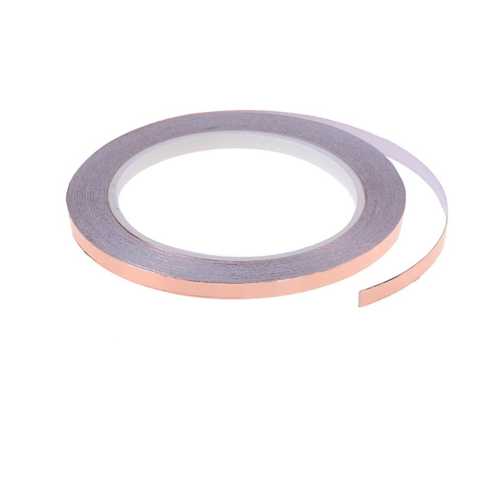 1 Uds. Cinta adhesiva de una sola cinta de lámina de cobre conductora de babosa de guitarra y barrera de Caracol 6mm x 20m