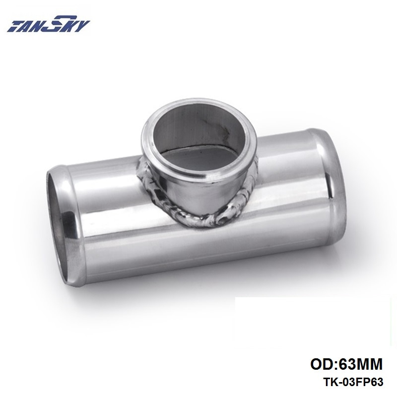 "Universal 63mm 2,5 ""válvula de soplado Flang tubo adecuado para la cola 50mm BOV para Mustang GT V8 / 05-10 GT500 TK-03FP63"