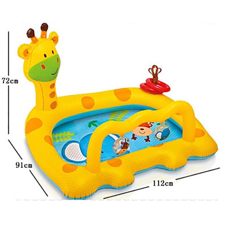 Piscina inflable para niños, silla de pvc, piscina para niños, baño infantil, piscina inflable para niños, casa, jirafa de plástico