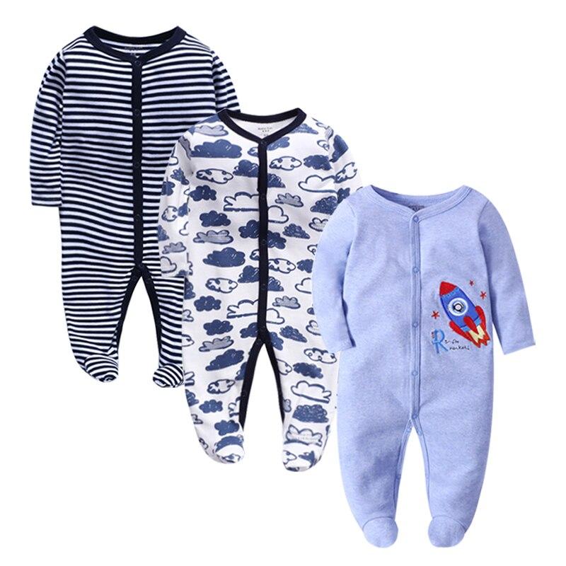 3piece/lot baby clothes Full Sleeve cotton infantis baby clothing romper cartoon costume ropa bebe 3 6 9 12 M newborn boy girl c