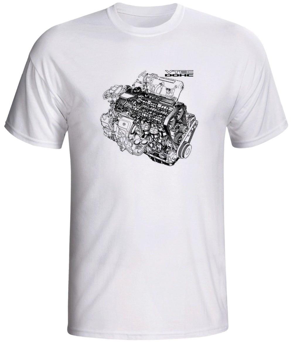 2018 nuevo Casual de manga corta motor Vtec camisa cariño Dohc de venta 100% algodón T Shirt