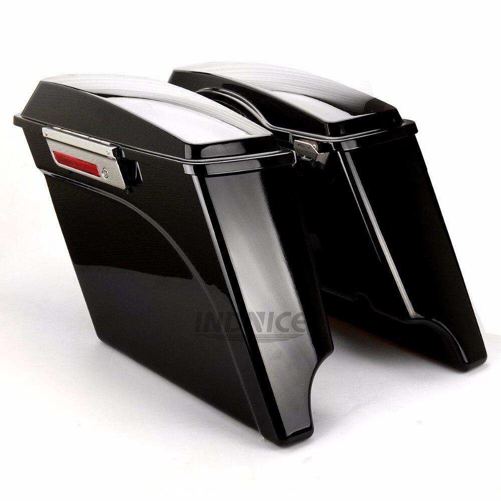 حقيبة يد ممتدة بطول 5 بوصات لدراجة harley Touring FLH FLT حقيبة يد ممتدة للسروج طريق الملك إلكترا الإنزلاق 1993-20