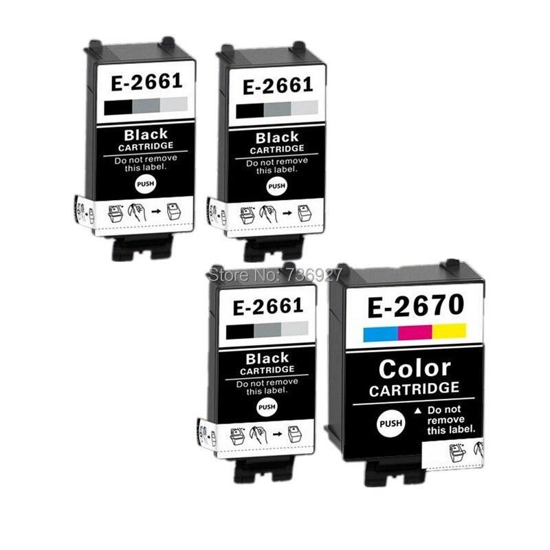 3BK+1C T2661 T2670 Compatible Ink Cartridges For Epson WorkForce WF-100W inkjet printer for European market