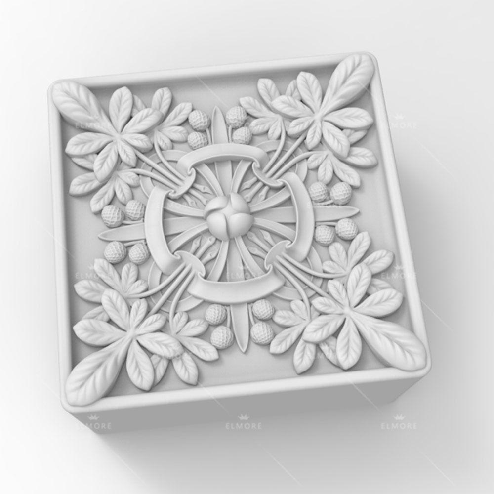 Grainrain jabón molde de silicona artesanal cuadrado flor molde hacer pastillas de jabón DIY vela resina molde