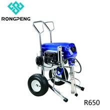 Rongpeng pulvérisateur de peinture sans air Machine R650 sans brosse cc similaire à électrique Ultra MaxII 1095 avec pistolet 0.025