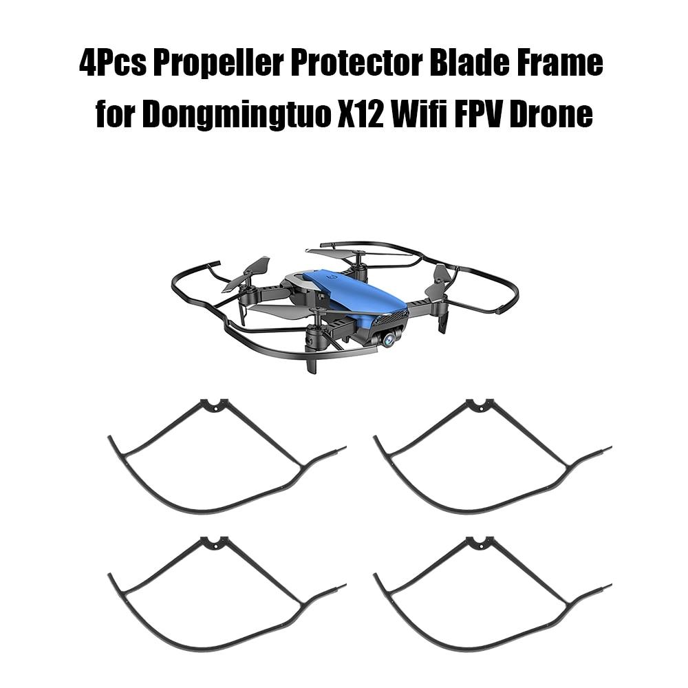 4 Uds marco Protector de Hélice para Dongmingtuo X12 Wifi FPV Drone Quadcopter RC hélice piezas