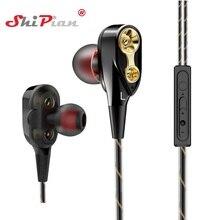 Music Dual Drive Stereo Earphone In-Ear Earbuds Bass Earphones for Highscreen Boost / Boost 2 SE / Boost 3 Pro