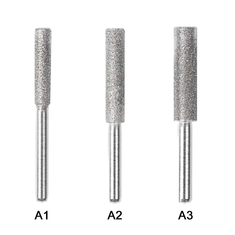 4/4.4/5mm Diamond Chainsaw Grinding Head Sharpener Polishing Burr Stone File Chain Saw Metal Polishing Electric Grinding Drill