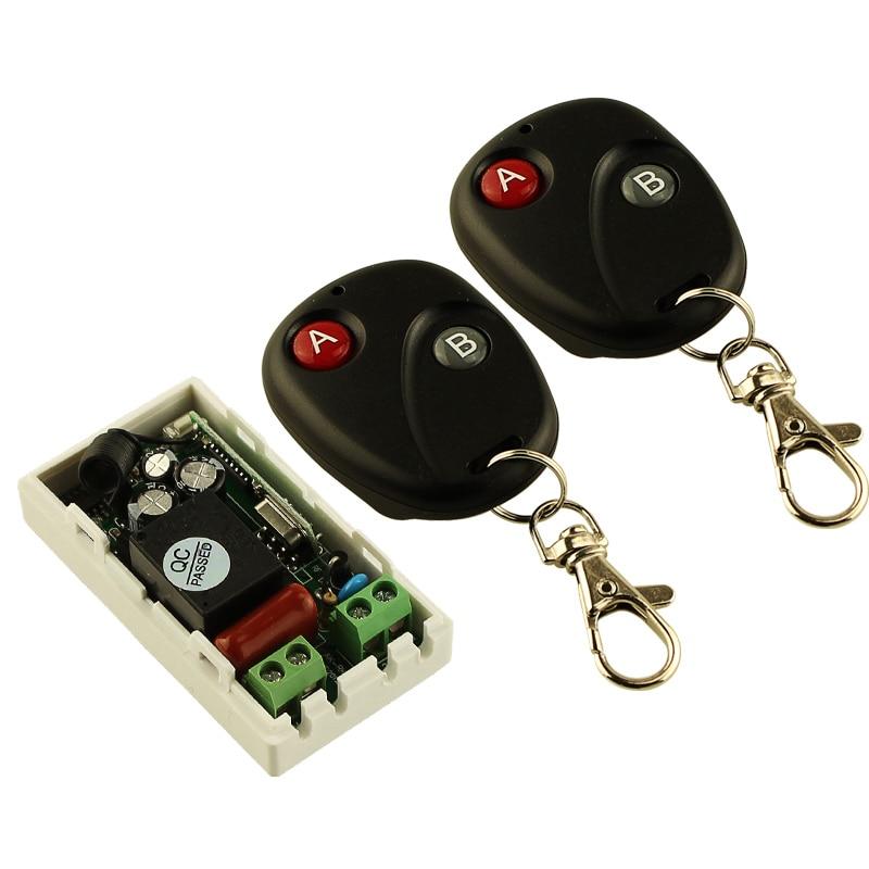 Акции AC 220 V 1CH беспроводной переключатель системы дистанционного управления приемник передатчик 2 кнопки 2 шт. пульты дистанционного управления 315 МГц 433,92 МГц